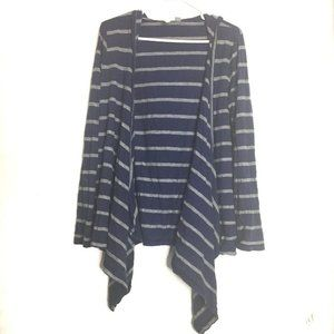3 for $30 Relativity Striped Open Front Knit Top